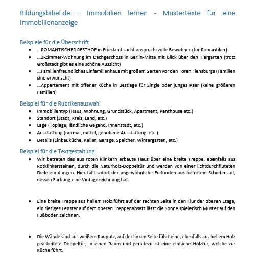 Immobilienanzeige Gestalten Haus Oder Wohnung Verkaufen Bzw